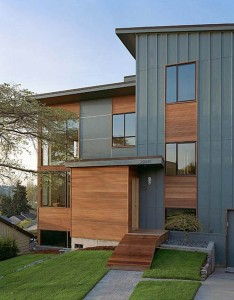 Aluminum Siding on a Contemporary Home