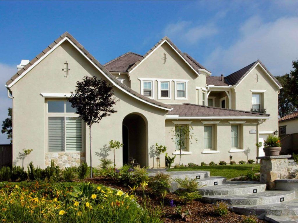 Stucco Siding on a Mediterranean style home