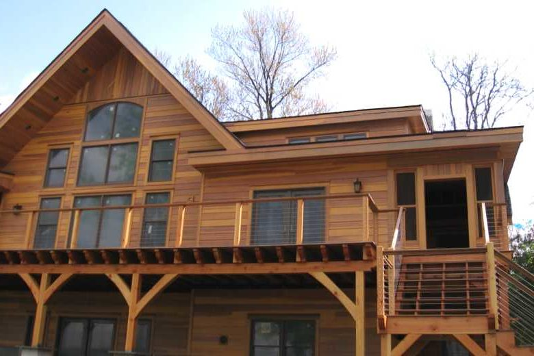 Wood Siding on a Modern Style Cabin
