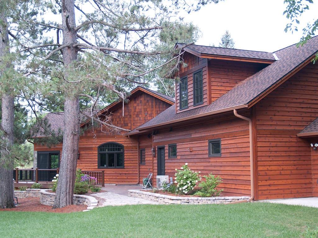 Cedar Siding on a Rustic Style Home