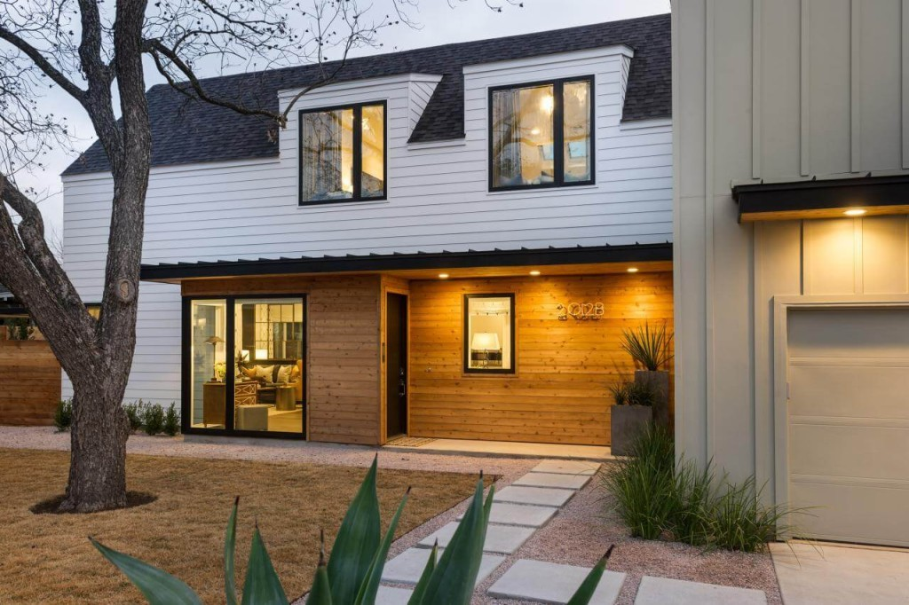 clapboard wood siding on a modern home - Modern Home Siding