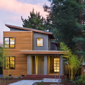 Wood Siding on a Contemporary Home